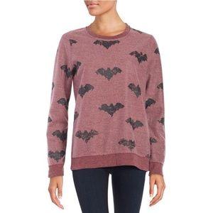 Chaser | Bat Fleece Pullover Sweatshirt in Purple
